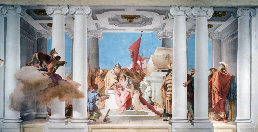 Giovan Battista Tiepolo, Il sacrificio di Ifigenia, 1757, Villa Valmarana ai Nani, Vicenza