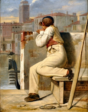 Ditlev Blunck - Un gondoliere (1832