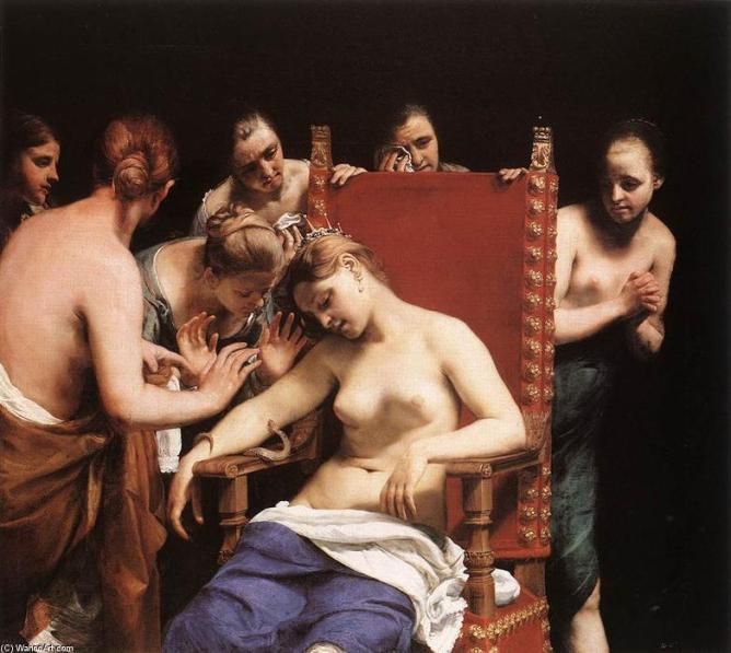 Guido-Cagnacci-The-Death-of-Cleopatra-2-