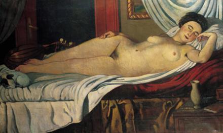 Piero Marussig, Nudo (o Venere addormentata), 1926 (Biennale di Venezia 1930)