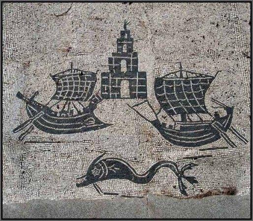 Ostia Antica, mosaico portico del teatro
