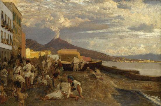 Oswald Achenbach, Die Bucht von Neaples