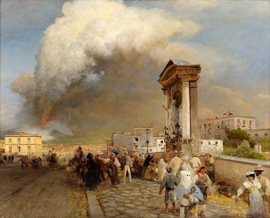 Oswald Achenbach Ausbruch des Vesuv