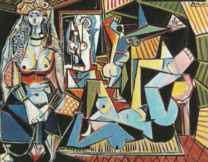 P. Picasso - Donne di Algeri, (1955) - olio su tela - Ganz collection, New York