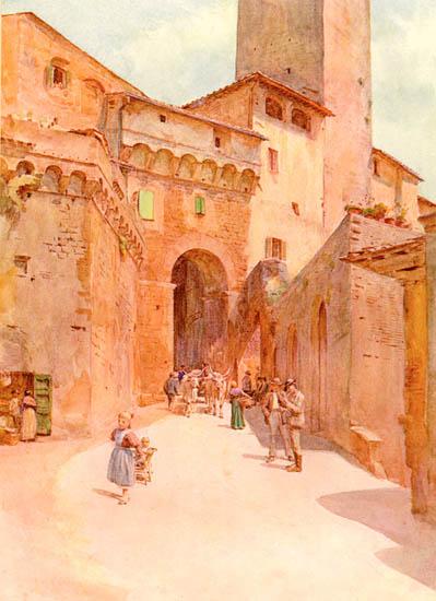Walter Tyndale, San Gimignano - Portone dei Becci (1913)