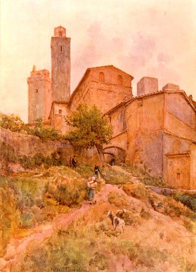 Walter Tyndale, San Gimignano - Via Capassi (1913)