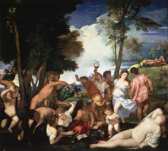 Tiziano Vecellio, Baccanale degli Andrii (1523–1526), Museo del Prado di Madrid.