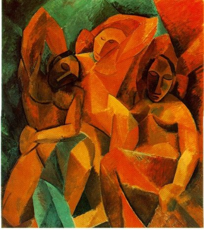 P. Picasso - Tre donne (1908-1909) - olio su tela - Museo dell'Hermitage, San Pietroburgo