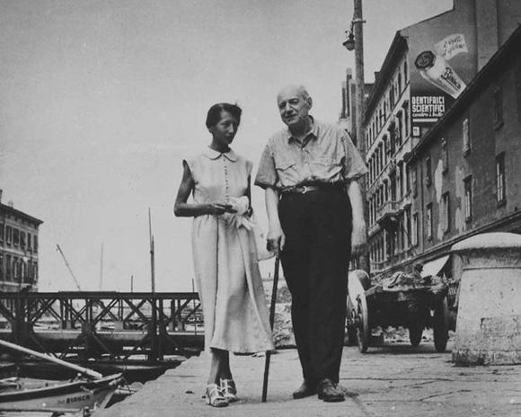 Umberto Saba con la figlia Linuccia