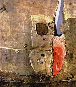 Alberto Burri, Sacco nero e rosso, 1953