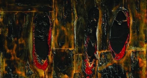 Alberto Burri, Combustione legno (part.), 1957
