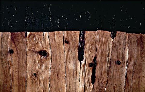 Alberto Burri, Legno SP, 1958 Legno, acrilico, vinavil, combustione su tela cm, 128 X 200 Città di Castello, Fondazione Palazzo Albizzini Collezione Burri