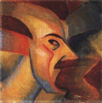 Luigi Russolo, Autoritratto 1912, olio su canvas