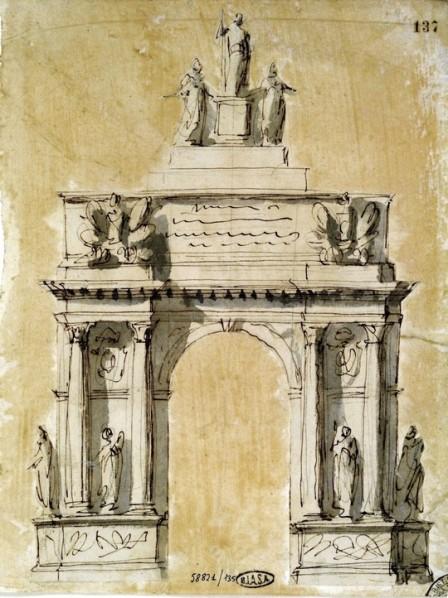 Giuseppe Valadier, Arco di Trionfo per Pio VI, (1800)