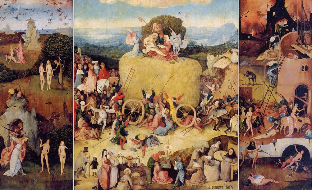 Hieronymus Bosch, Il carro del fieno