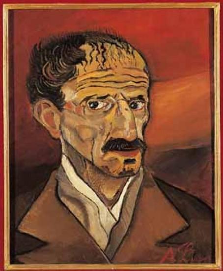 Antonio Ligabue, Autoritratto, Galleria Uffizi