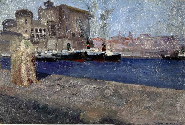 Alberto Chiancone, Nel porto di Napoli, 1915-1930
