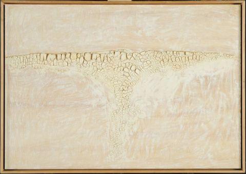 Alberto Burri, Bianco cretto, 1969