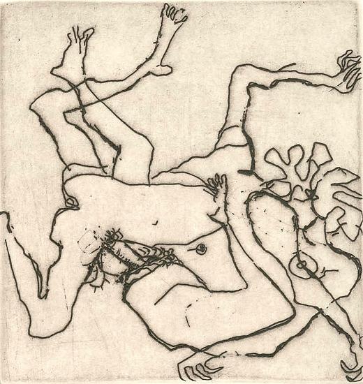 """Luciano Minguzzi, da """"Carmina ludrica romanorum. Carmina priapea, catalogo 1986"""