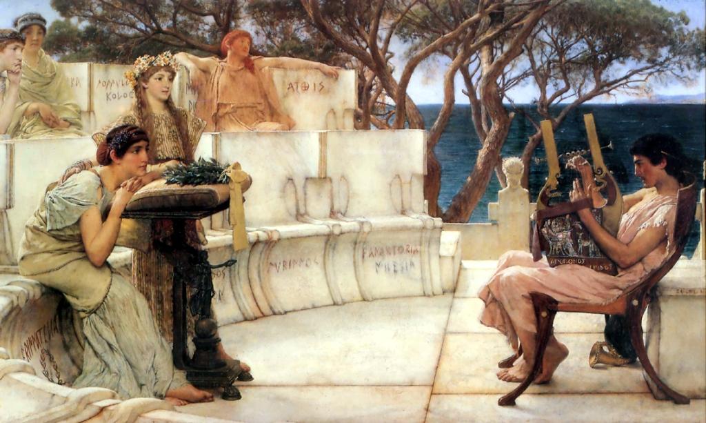 Alma-Tadema, Saffo e Alceo