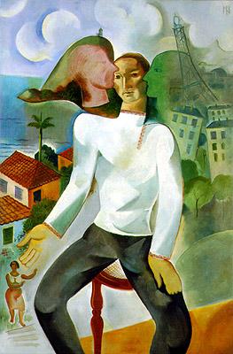 Ismael Nery, Self portrait, 1927