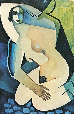 Ismael Nery, Donna nuda accovacciata