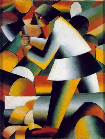 """Kazimir Malevič, """"Il boscaiolo"""", 1912. Collezione Stedelijk Museum Amsterdam"""