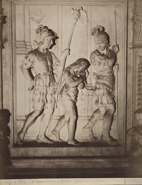 Alessandro Agardi, Giovanni Buratti, Sant'Agnese condotta al martirio, 1662 ca