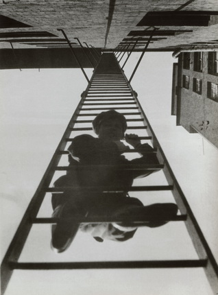"Alexander Rodchenko. Fire Escape (with a man). From the series ""House in Miasnitskaya St"". 1925."
