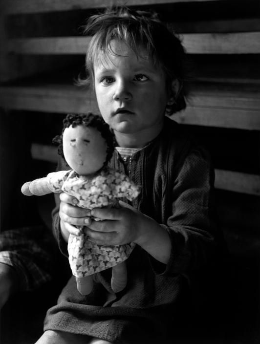 David Seymour,  Displaced Persons Camp from the Sudeten land, Vienna, 1948