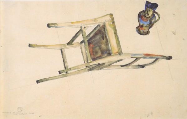 Egon_Schiele_-_Organische_Bewegung_des_Sessels_und_Kruges_-_21-4-1912