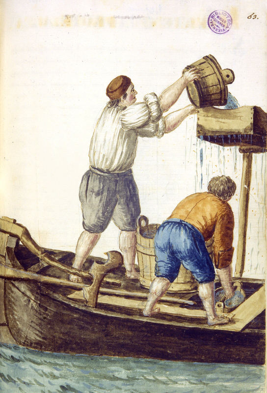 Giovanni Grevembroch, Acquaroli, 1753 Disegno a penna su carta con colorazioni ad acquerello