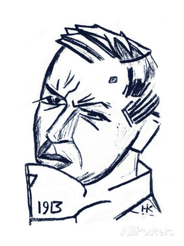 Nikolaj Kul'bin, Ritratto di David Burljuk, 1913