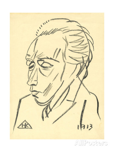 Nikolaj Kul'bin, Ritratto del poeta Velemir Chlebnikov, 1913