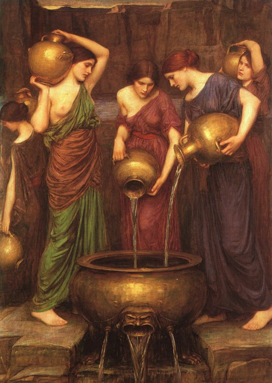 John William Waterhouse, The Danaïdes, 1903, oil on canvas, collezione privata