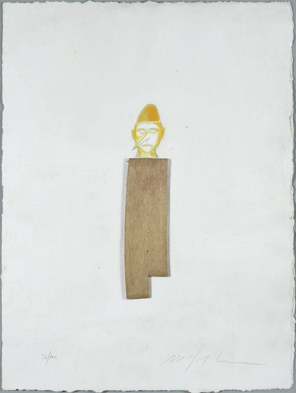 """Mimmo Paladino, Senza titolo (dalla cartella """"Pinocchio""""), 2005"""