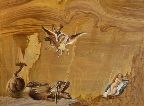 Filippo Napoletano, Ruggero libera Angelica, Museo dell'Opificio delle Pietre dure
